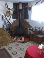 Large 5 bed 2 bath house with wood stove