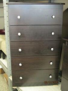 Five Drawer Chest in Expresso Brand new
