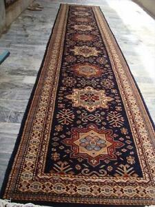 SHIRVAN KAZAK HAND KNOTTED RUNNER WOOL CARPET 12.1x2.7 FB-2810