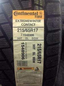 4 Brand NEW Continental Extreme Winter Contact 215/65R17 winter tires. *** WallToWallTires.com ***