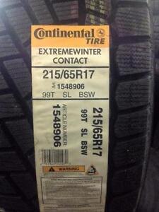 4 Brand NEW Continental Extreme Winter Contact 215/65R17 winter tires. *** WallToWallTires.com ***