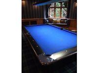 8 Foot Longoni Las Vegas American Slate Bed Pool Table, Original price £4690
