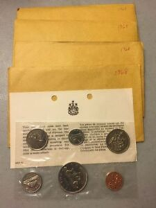 Uncirculated coin sets from the Royal Canadian Mint