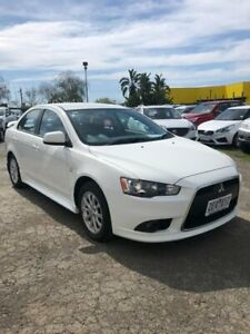 2012 Mitsubishi Lancer White Constant Variable Sedan Hoppers Crossing Wyndham Area Preview
