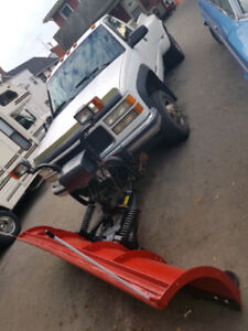 GMC 3500 Dual Chevy Diesel Truck with Hinker Snow Plow $8500