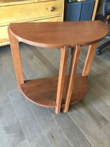 Two (2) Maple Wood End Tables