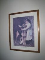 $15 for each vintage framed print or $45 for all four!  Approxi