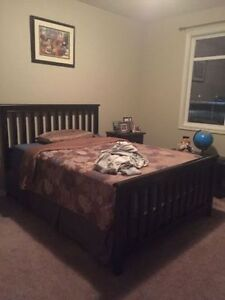 furnished bedroom with private full bath for rent in downtown