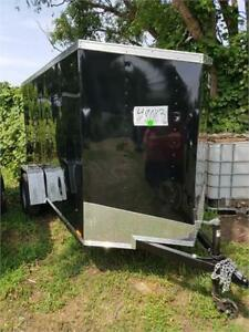 2018 5X10 +2FT V NOSE ENCLOSED TRAILER WITH RAMP DOOR SPECIAL