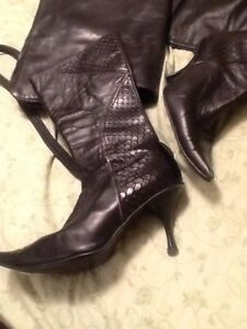 Leather boots(size 7) & other woman items