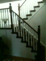 Solid Oak Stairs, custom colors!!!