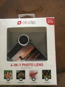 OLLO CLIP:   4 IN 1  PHOTOS LENS FOR  IPHONES 5 AND 5S
