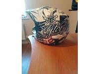 Fox Motocross Helmet & Oakley Goggles