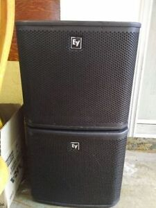 EV ZXA1 POWERED SUBWOOFERS IN GOOD CONDITION !!!