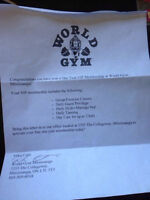 1 FULL YEAR VIP GYM MEMBERSHIP TO WORLD GYM MISSISSAUGA