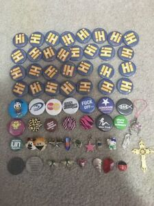 Random pin collection and cellphone ornaments