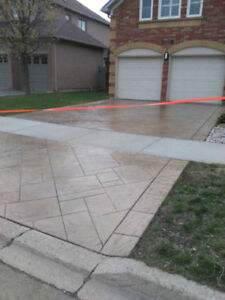 Stamped Concrete Overlay, Sealing, Parging,Porch Restorations