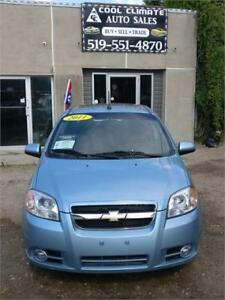 2011 CHEVROLET AVEO LT SAFETIED FOR $6450+HST TAX!!!