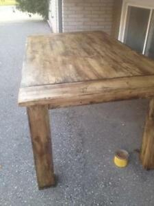 Custom built table
