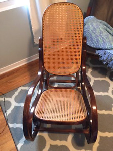 Bentwood wicker rocking chair