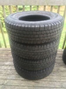 Four LT225/75R16 All Season Tires