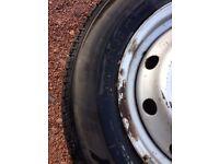 Van tyre and wheel ( fiat ducato, peugeot boxer or citroen relay )