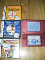Dsi XL with 3 games for sale
