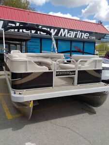 LAST ONE!! Brand new 18' pontoon with 40hp ETec Montego Bay boat