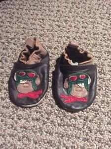 Leather puppy slippers