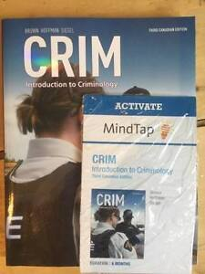 CRIM: Introduction to Criminology (Third Canadian Edition)
