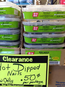 NAIL CLEARANCE ...NOW .50 CENTS AND UP
