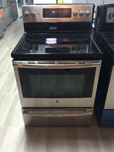 """GE 30"""" Stainless Range w/ Convection"""