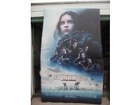 A STAR WARS ROGUE ONE massive cinema picture board.