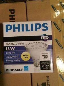 Philips LED PAR30 Flood Bulbs - Brand New in Boxes!