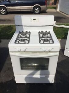 "Frigidaire white gas 30"" stove oven range for sale"