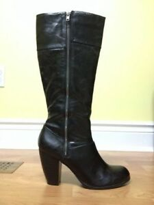 Black Tall Boots with Zipper size 10