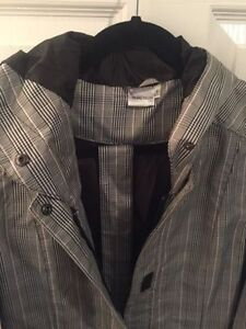 Puretech Size Small Plaid Belted Raincoat