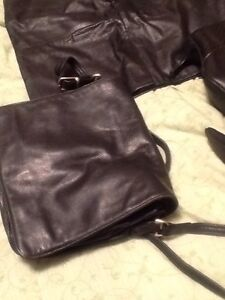 Real Leather:skirt, long coat, boots, wallet, bag Kitchener / Waterloo Kitchener Area image 5