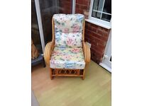 Conservatory Furniture in nice condition. 2 x two seater and 1 x one seater. Starting to fade & age