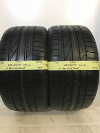 F438 2X 285/30/19 98Y ZR BRIDGESTONE POTENZA RE050A XL MO 1X6,5MM 1X7MM TREAD