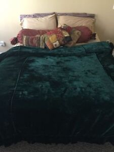 Custom Made Velvet Duvet Cover, Bedskirt, Body Pillow and Cover