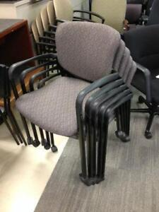 Haworth Improv Stacking Chairs on castors/wheels