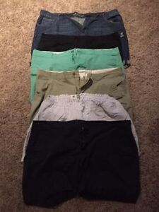 6 pairs of size 20 shorts most are old navy