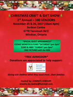 CHRISTMAS CRAFT & GIFT SHOW ~ 3rd Annual ~ Windsor, Ontario
