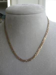 ELEGANT OLD DOUBLE-BRAIDED STERLING SILVER [stamped] NECKLACE