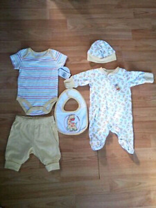 newborn 5 piece baby outfit