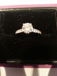 Beautiful Birks 'Blue' Diamond Engagement Ring