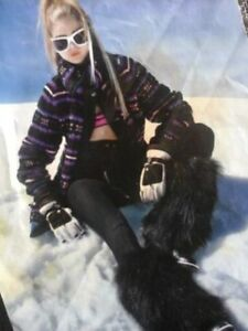 New! Genuine Coyote Fur Leg Warmers Boot Covers Apres Ski