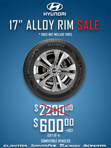 *HUGE SALE* 17 INCH HYUNDAI OE ALLOY RIMS $600/SET