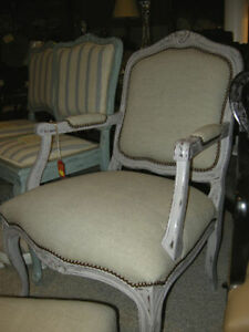 antique shabby chic French Provincial arm chair